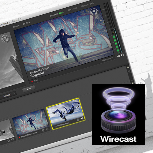 Telestream Wirecast Studio 6  LIVE streaming