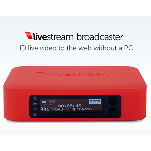 Livestream Broadcaster live video pro web bez PC