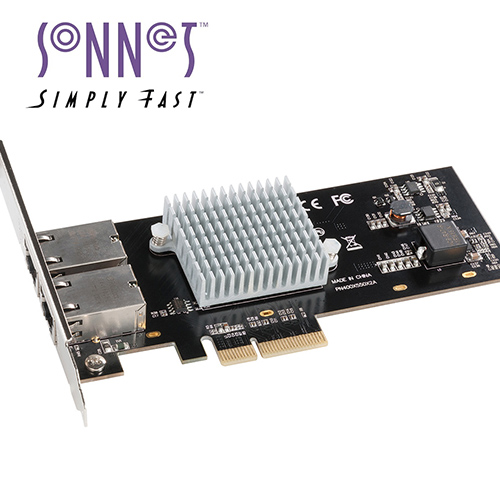 Sonnet Presto 10GbE 2port adapter | 10Gbase-T